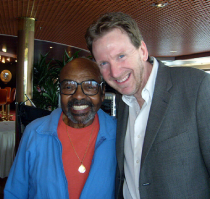 Tom with James Moody